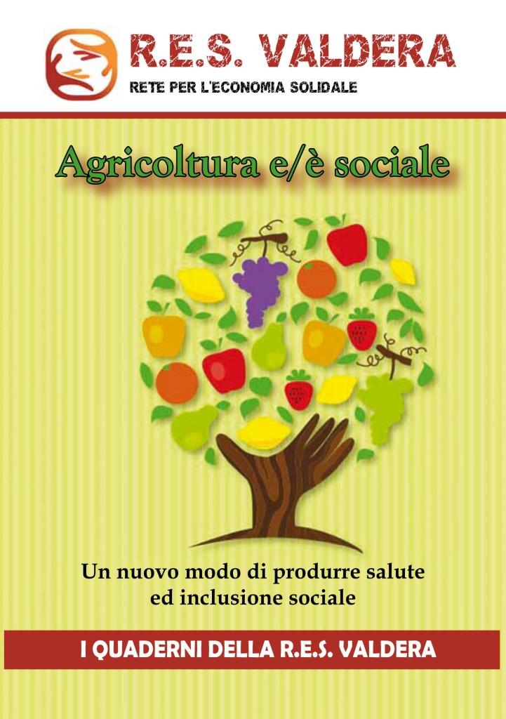 Copertina Quaderno AGRICOLTURA SOCIALE