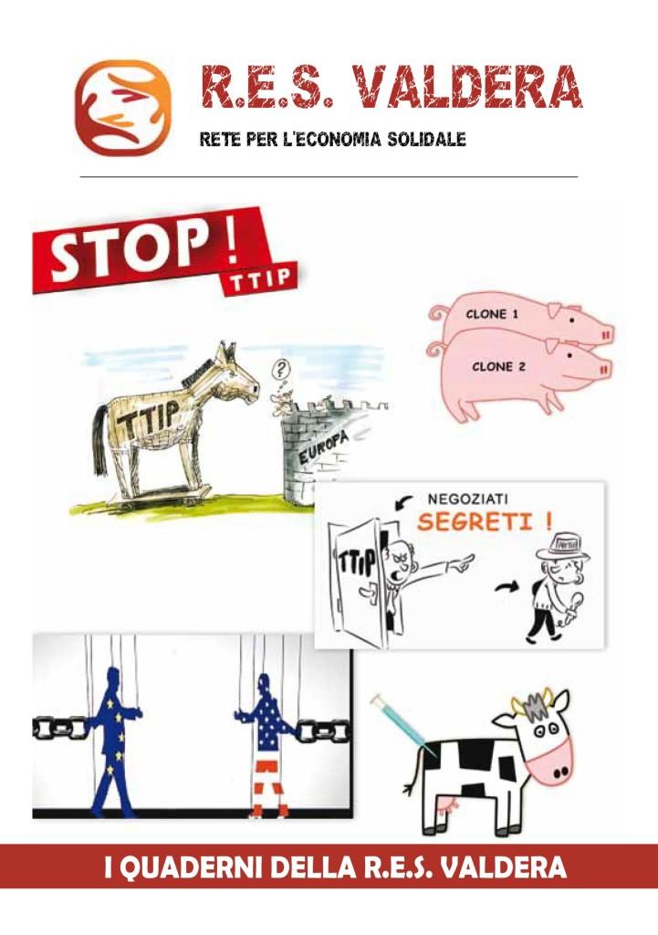 Copertina Quaderno STOP TTIP