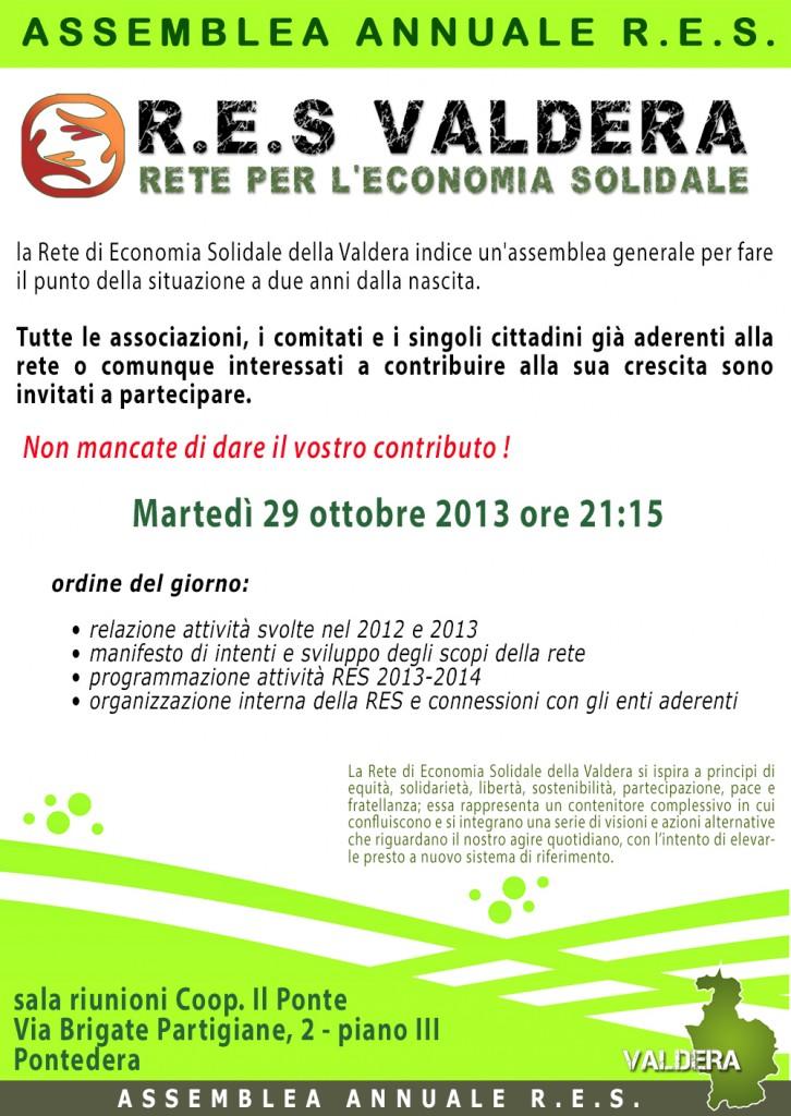 Volantino assemblea annuale RESV 29-10-2013