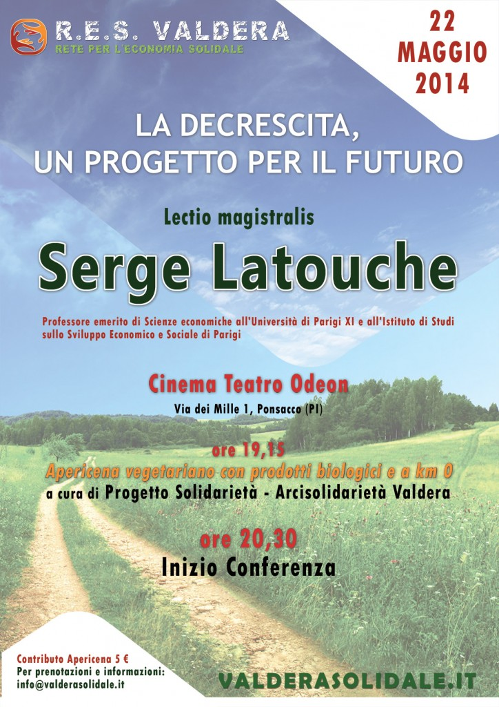 Volantino iniziativa con Latouche 22-05-14 Ponsacco